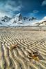 Waiting for the next tide. (darklogan1) Tags: beach sand lofoten norway mountains snow texture tide logan darklogan1 landscape