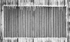 The Unspoken (belleshaw) Tags: blackandwhite wall sign missing corrugated paint drips rust metal decay detail