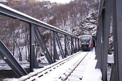 Влак, мост, река, тунел...