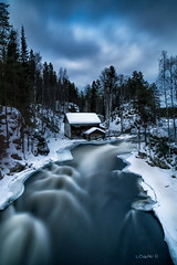 Lapland fantasy. (darklogan1) Tags: lapland finland oulanka nighphotography longexposure river mill rapids snow ice clouds night logan darklogan1 winter