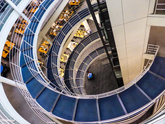 Learning Curve (Douguerreotype) Tags: uk gb britain british england london architecture building spiral helix stairs staircase steps blue learning study university