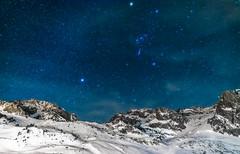 Look at the stars (aurlien.leroch) Tags: europe france hautespyrénées pyrénées lamongie tourmalet winter hiver snow white stars astronomy astronomie nikon d7100