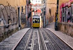 Ascensor Da Bica (Trouvaille Blue) Tags: europe portugal lisboa lisbon ascensordabica tram trouvailleblue funicular bica