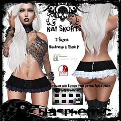BLASPHEMIC - KAY SKORT (BLASPHEMIC) Tags: blasphemic darkness chamber fair maitreya slink skorts fitted mesh fitmesh sl secondlife