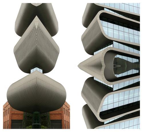 Vaisseaux spatiaux Umicoresques, Immeuble Umicore Hoboken, Adolf Greinerstraat, Antwerpen (Anvers) Belgium