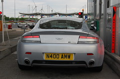 Aston Martin V8 Vantage N400 (D's Carspotting) Tags: aston martin v8 vantage n400 france coquelles calais grey 20100613 n400amw le mans 2010 lm10 lm2010