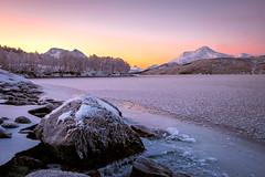 Frosty morning (Reidar Trekkvold) Tags: xt10 frost fujifilm fujifilmxt10 harstad ice is landscape natur nature nordnorge norway snow sun sunrise troms vann vinter water winter xf1855ois storvannsyd