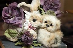 Have a wonderful day (kimbearlyoriginal) Tags: bunny rabbit teddy bear photo mink handmade kimbearlys