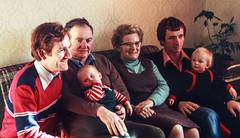 1980 Family Cybi House (alh1) Tags: agfact18 cybihouse 1980 53 john penrhynside wales copies slide transparencies joanne family frank allan dad mum