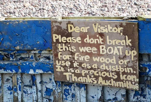 Auchmithie Boat Sign