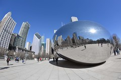 Cloud Gate_Chicago (Niko Kyrylenko) Tags: chicago nikon myaka fisheye travel trip vacation cloud cloudgate illinois usa mirror downtown city streetart art awesome amazing ball road chill
