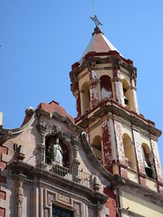 View to bell tower, Templo de la Congregación, Querétaro, Mexico (Paul McClure DC) Tags: querétaro mexico nov2016 santiagodequerétaro historic architecture bajío church