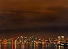 Cloudy San DIego Evening Skyline (TBrianJones) Tags: nightphotography sky water skyline night clouds boats evening sandiego darkclouds sandiegobay stormyclouds sandiegoskyline