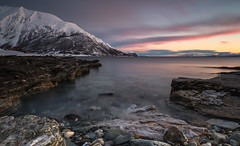 silent coast (christian.denger) Tags: seascape reflection norway sunrise canon landscape eos norwegen lee ullsfjord 6d troms oldervik chrisdenger
