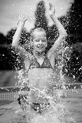 Human Fountain (Michael Angelo 77) Tags: portrait bw fun drops splash splashingwater
