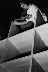 construction time (again) (emanuele_f) Tags: portrait blackandwhite film ikea 50mm construction f14 bookshelf contax hp5 ilford biancoenero analogica rx planar carlzeiss fomadonp
