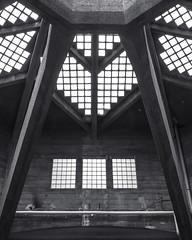 Nonagon**** (trommler13) Tags: fuji von aachen architektur dach halle 1925 glasdach nonagon baudenkmal xt1 betonbau artfotografie samyang12mmf20 xf165528 lastkraftwagenhalle