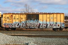 El Garzo Es Loco (BombTrains) Tags: road railroad art train bench graffiti paint tag graf rail loco el os spray op es graff monday shitty freight okay til fr8 kto railbox abox benching 50075 garzo