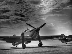 Flightline - Duxford (davepickettphotographer) Tags: uk museum aircraft monotone airshow duxford cambridgeshire warmuseum imperialwarmuseum battleofbritain em1 iwm olympuscamera 75years theimperialwarmuseumuk