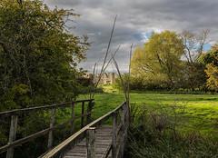 Tupholme Abbey (Sarah Brooke) Tags: bridge sky abbey ruins lincolnshire wicker tupholme