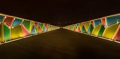 Lighted path (melodft) Tags: bridge nightshot ponte noite coimbra parqueverde pedroines