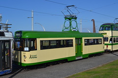 Blackpool Transport 680 (Will Swain) Tags: travel light west during coast town europe day anniversary transport tram rail railway running lancashire september celebration celebrations rails preserved seen trams 130 blackpool 680 26th centenary 2015 130th