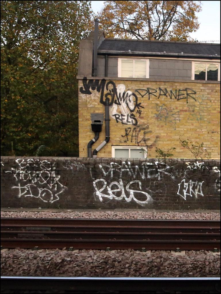 Alex Ellison Tags Urban Graffiti Boobs Tag Railway Drawer