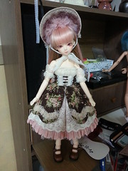 Dalia: Quick Dress-Up Pics (almyki) Tags: girl ball asian doll jasmine 14 mini fairy lolita tiny bjd bf abjd dalia msd jointed bluefairy dalhart desers