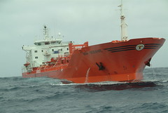 Bow Atlantic in high sea... (Gunnar Eide) Tags: ocean sea yard dock waves sailing ship transport atlantic maritime bow shipping tanker tankers odfjell