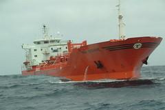 Bow Atlantic in high sea... (Gunnar Eide) Tags: ocean sea yard dock waves sailing ship transport atlantic maritime bow shipping tanker tankers odfjell