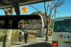 The Season before Spring (Yta 3.21) Tags: street winter woman reflection bus girl japan digital mirror sigma  osaka schoolgirl  foveon    suita   streetsnap  41mm  dp2s