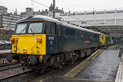 87002 (Rossco156433) Tags: electric train scotland edinburgh engine loco locomotive motor freight brel caledoniansleeper gbrailfreight class87 gbrf edinburghwaverly britishrailengineeringlimited 87002