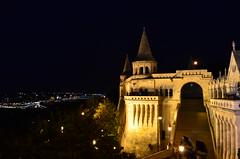 Budapest night view from Baszta Rybacka, Hungary