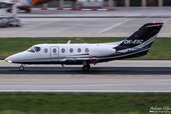 Private --- Raytheon Beechjet 400A --- OK-ESC (Drinu C) Tags: plane private aircraft aviation sony raytheon panning dsc mla beechjet bizjet privatejet 400a lmml hx100v adrianciliaphotography okesc