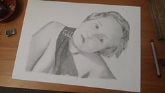Pencil portrait nude woman (Coop and Terry) Tags: woman girl nude drawing nudewomandrawing