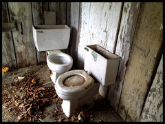 Toilets (~ Lone Wadi ~) Tags: toilets commode potty abandoned abandonment neglected forgotten decaying decrepit lonesome rural crittendencounty kentucky hurricanechurchroad
