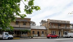 In Willunga.  The  Hotel on right  built in 1868.  Centre building was the home of James Castle  built around 1860. He owned the hotel.The building left was Castles General Store built around 1870. Upper floor added about 1890 (denisbin) Tags: mawsonlakes jacaranda willunga hotel pub gawler willaston