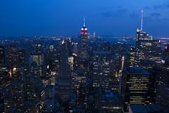 NH0A6273s (michael.soukup) Tags: newyork newyorkcity skyline manhattan empirestate worldtradecenter cityscape sunset dusk skyscraper citylights architecture midtown rockefeller 30rock tower bluehour night nyc building outdoor city
