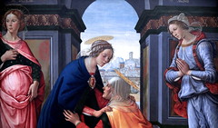 IMG_7994B Domenico Ghirlandaio.  1449-1494.  Florence.  Visitation. 1491.  Louvre. (jean louis mazieres) Tags: peintres peintures painting musée museum museo france paris louvre domenicoghirlandaio