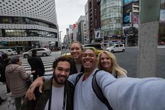 Selfie time (Dominic Sagar) Tags: 2016 danielle dominic family fujifilm japan lisa selfie t050 t100 t200 tristan xt1 building reflection selfportrait chūōku tōkyōto jp