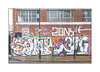 Street Art (Sony, Cave), East London, England. (Joseph O'Malley64) Tags: sony cave 29ers streetart urbanart graffiti eastlondon eastend london england uk britain british greatbritain art artists artistry artworks murals muralists wallmurals brickwork bricksmortar pointing reinforcedconcretelintels lamppost signpost signs signage windows steelwindowframes campaignposter gate formerfactory concrete accesscovers granitekerbing tarmac singleyellowline urban urbanlandscape aerosol cans spray paint