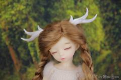 Antlers commission (AnnaZu) Tags: antlers annazu annaku vesnushkahandmade bjd balljointed doll dollfairyland fairyland littlefee yosd ante deer rheindeer horns abjd commission polymer clay