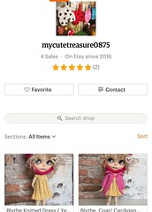 Just listing 2 new colour of blythe outfit in my etsy store..  welcome to visit ..! 😘😍😄😆