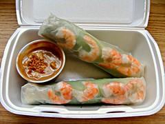 Salad Roll (knightbefore_99) Tags: phocentury work lunch shrimp ham lettuce vietnam vietnamese roll salad tasty asian food peanut sauce delicious awesome