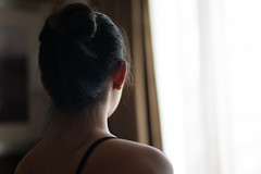 Jessica P (macal1961) Tags: noface hotel bedroom sensual ambient light intimate hair nape shoulder neck beauty portrait