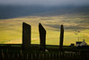 Stones of Stenness (Premysl Fojtu) Tags: standingstones menhir stonecircle stenness orkney mainland island scotland light colour green silhouette landscape canon 50d ef100400 telephoto