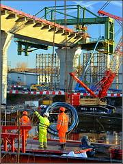 Mersey Gateway Project (Rubrica Bridges Wing Traveller,Southern approach viaduct,Runcorn) 20th January 2017 (Cassini2008) Tags: merseygatewayproject bridgeconstruction rubricabridgeswingtraveller rubricaengineering viaduct manchestershipcanal
