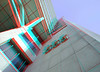 Building 555 Blaak Rotterdam 3D (wim hoppenbrouwers) Tags: gebouw555 blaak rotterdam3d anaglyph stereo redcyan building 555 rotterdam 3d building555