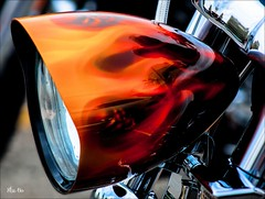 heat lamp... (Stu Bo) Tags: bike headlight greatpaint chromeisking flames heat skull motorcycle kustom kool vivid sbimageworks smooth ride rebel reflections beautiful bestofshow details