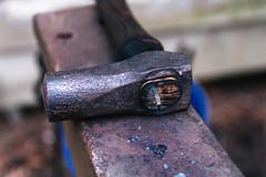 Maxwell's Hammer (koreybartos) Tags: hammer anvil blacksmithing metalworking detail